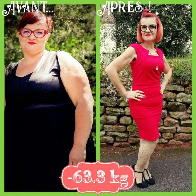 14 mois Après bypass moins 63.3 kg